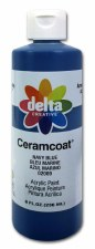 Delta Ceramcoat Acrylic Paint, 8oz- Navy Blue
