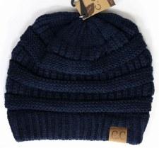 CC Knit Beanie- Navy