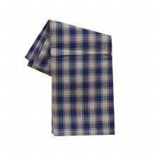 "House Check 20""x28"" Tea Towel- Teadye & Navy"
