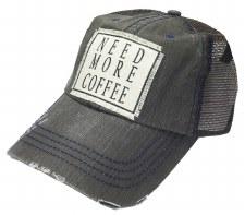 Women's Trucker Baseball Cap- Need More Coffee