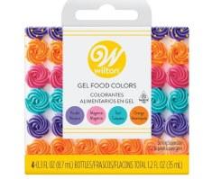 Gel Food Colors, 4ct- Brights
