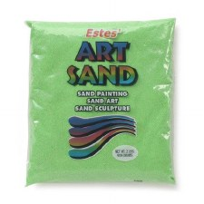 Estes' Art Sand, 2lb Bag- Neon Green