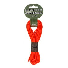 Parachute Cord 4mm x 16ft- Neon Orange