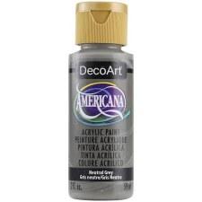 Americana Acrylic Paint, 2oz- Neutrals: Neutral Gray
