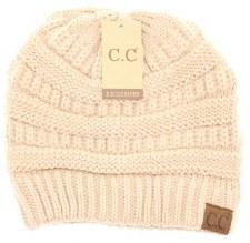 CC Knit Beanie- New Beige
