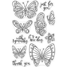Hero Arts Clear Stamp Set- New Day Butterflies