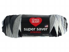 Red Heart Super Saver Yarn, Stripes- Newspaper