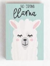 Wood Block Sign, Small- No Drama Llama