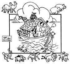 Aunt Martha's Iron On Transfers- Noah's Ark #3925