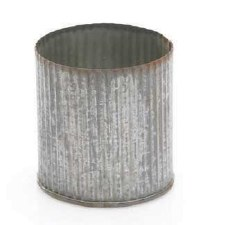 "Zinc Metal 3"" Cylinder Vase"