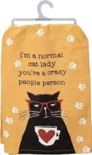 Dish Towel- Normal Cat Lady