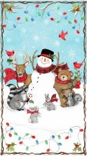 Christmas & Winter Fabric Panel-Nose to Nose