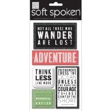 MAMBI Soft Spoken Stickers- Travel- Not All Who Wander