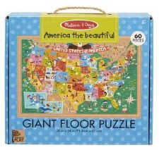 Natural Play Giant Floor Puzzle- America the Beautiful