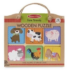 Natural Play Wooden Puzzle- Farm Friends