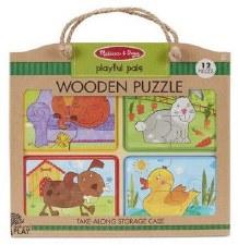 Natural Play Wooden Puzzle- Pet Pals
