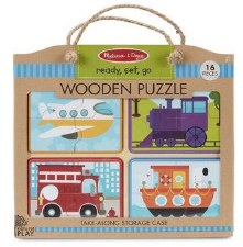 Natural Play Wooden Puzzle- Ready, Set, Go