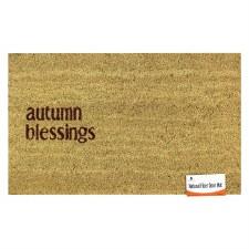 Natural Fiber Door Mat- Autumn Blessings