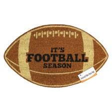 Natural Fiber Door Mat- Football Season