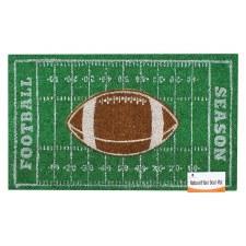 Natural Fiber Door Mat- Football Field
