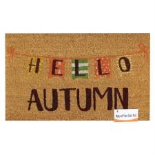 Natural Fiber Door Mat- Hello Autumn