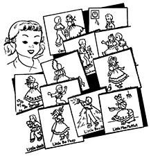 Aunt Martha's Iron On Transfers- Nursery Rhymes #3275