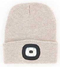 Night Scout Rechargable LED Beanie- Oat