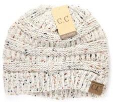 CC Knit Beanie- Oatmeal Confetti