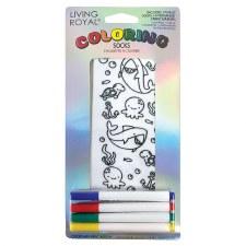 Coloring Socks- Ocean Pals