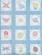 """9"""" Quilt Blocks- Octagon Garden"""