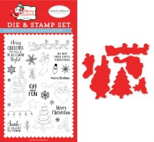 Merry Christmas Designer Stamp & Die Combo Set- Oh What Fun