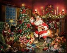 Christmas & Winter Fabric Panel- Ol St.Nick