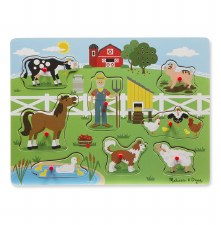 Melissa & Doug Sound Puzzle- Old Macdonald's Farm