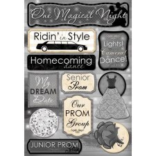 Cardstock Stickers- One Magical Night