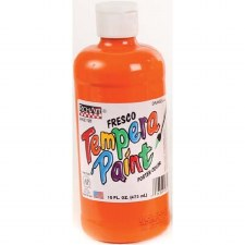 Fresco Tempera Paint, 16oz- Orange