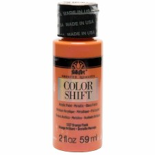 FolkArt Color Shift Metallic Acrylic Paint, 2oz- Orange Flash