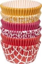 Baking Cups, 150ct- Orange, Pink, & Red