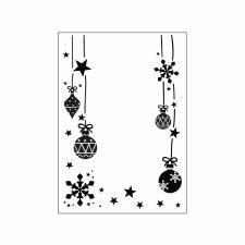 Darice Embossing Folder- Christmas- Ornaments