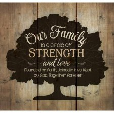 Pallet Decor- Our Family Strength, 10""