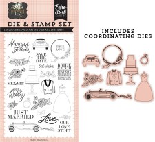 Wedding Day Stamp & Die Stamp Set- Our Love