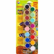 Acylic Paint Pots, 16ct- Oudoor Colors