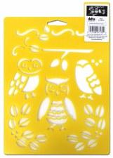 Stencil Mania 7x10 Stencil- Owls