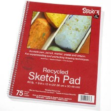 Sketch Pad, 75ct- Recycled Sheets