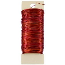 24 Gauge Paddle Floral Wire - Red