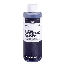 Matte Acrylic Paint, 8oz- Black