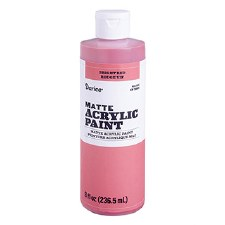 Matte Acrylic Paint, 8oz- Bright Red