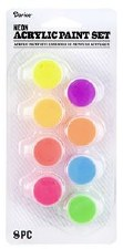 Acrylic Paint Set, 8 Pots- Neon