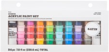 Acrylic Paint Pot Set, 34pc- Satin