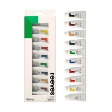 Reeves 10pc Acrylic Set-22ml per Tube