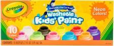 Crayola Washable Kids Paints, 10ct- Neon Colors